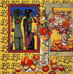 The Swimmer (oil on board) Fine Art Print by Ignace Henri Jean Fantin-Latour