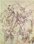 The Temptation of St. Anthony Wall Art & Canvas Prints by Martin Schongauer