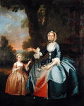 Portrait of Mrs Dawson of Retford and her Daughter, c.1749 Wall Art & Canvas Prints by Adelaide Labille-Guiard