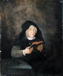 Old Woman Reading, 1650s Poster Art Print by Bertha Newcombe