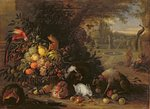 Still Life in a Garden, c.1700 Fine Art Print by Balthasar Denner