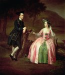 Sir George and Lady Strickland, 1751 Wall Art & Canvas Prints by Thomas Gainsborough