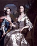 Mrs Elizabeth Birch and Her Daughter, 1741 (oil on canvas) Fine Art Print by Lydia de Burgh