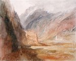 Couvent du Bonhomme, Chamonix, c.1836-42 (w/c with scratching out on paper) Postcards, Greetings Cards, Art Prints, Canvas, Framed Pictures & Wall Art by Joseph Mallord William Turner