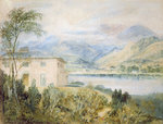 Tent Lodge, by Coniston Water, 1818, (w/c and bodycolour on grey paper) Wall Art & Canvas Prints by Francis Towne