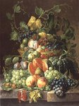 Basket of Fruit Fine Art Print by Gerard van Spaendonck