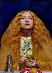 The Bridesmaid, 1851 (oil on panel) Fine Art Print by Dante Gabriel Rossetti