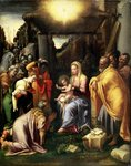 Adoration of the Kings Fine Art Print by Martin Schongauer