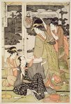 P.359-1945 Scene 12, Comparison of celebrated beauties and the loyal league, c.1797 (colour woodblock print) Postcards, Greetings Cards, Art Prints, Canvas, Framed Pictures, T-shirts & Wall Art by Kitagawa Utamaro