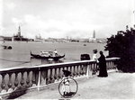 Panoramic view from the Giardini Pubblici (b/w photo) Postcards, Greetings Cards, Art Prints, Canvas, Framed Pictures, T-shirts & Wall Art by Timothy Easton