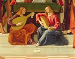 The angel musicians, from the altarpiece of Saint Ambrose Fine Art Print by Jan van Eyck