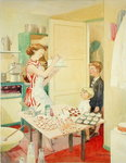 The Birthday Cake, 1953 Poster Art Print by Carol Tatham Smith