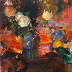 Oranges and Roses Fine Art Print by Samuel John Peploe