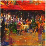 Table at Villefranche Fine Art Print by Lincoln Seligman