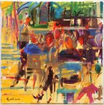 Carlton Croisette, Cannes Postcards, Greetings Cards, Art Prints, Canvas, Framed Pictures, T-shirts & Wall Art by Lincoln Seligman