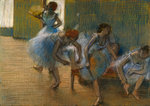 Dancers on a Bench, c.1898 Postcards, Greetings Cards, Art Prints, Canvas, Framed Pictures, T-shirts & Wall Art by Edgar Degas