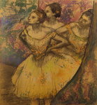 Les Trois Danseuses, c.1896-1905 Wall Art & Canvas Prints by Edgar Degas