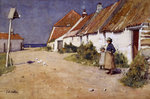 Seaside cottages with dovecot Wall Art & Canvas Prints by Sir Lawrence Alma-Tadema
