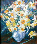 Daffs (oil on canvas) Fine Art Print by Timothy Easton