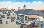 New French Market, New Orleans, Louisiana, c.1930-50 (colour litho) Wall Art & Canvas Prints by American School