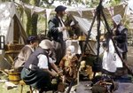 Historical re-enactment of mid 17th Century, English Civil War period Fine Art Print by William Snr. Shayer
