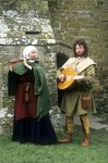 Medieval musicians, part of a historical re-enactment Fine Art Print by Andrew Howat