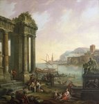 Italian Seaport Wall Art & Canvas Prints by Claude Lorrain