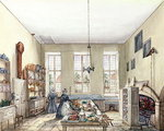 The Kitchen at Aynhoe, 3rd February 1847 Postcards, Greetings Cards, Art Prints, Canvas, Framed Pictures, T-shirts & Wall Art by Peter Jackson