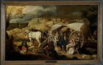 Soldiers Ambush a Cart and Passengers, between 1600-1647 Fine Art Print by Jan Brueghel
