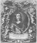 Portrait of Ferdinand III, Holy Roman Emperor, engraved by Pieter de Jode published by Philibert Bouttats, between 1647-1657, or 1691 Fine Art Print by Sir Anthony van Dyck