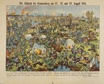 The Battle of Tannenberg, 27-29 August 1914, from 'Neuruppiner Bilderbogen' nr. 10010, printed by Gustav Kuehn, Neuruppin, 1914 Fine Art Print by Robert Alexander Hillingford