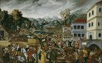 'Augsburger Monatsbilder': July, August, September, c.1531 Wall Art & Canvas Prints by Jacobus Schlachter