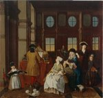 Music society - from a series of four paintings showing people at leisure, 18th century Fine Art Print by Patricia Espir