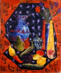 Blue and Red Jug, 2003 Fine Art Print by Carl Albrecht