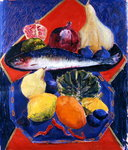 Fish and Gourd, 2007 Wall Art & Canvas Prints by Norman Hollands