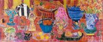 My Favourite Things, 2005 (dyes on silk) Wall Art & Canvas Prints by Peter Graham