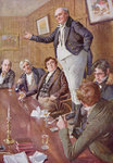 Mr Pickwick Adresses the Club, illustration for 'Character Sketches from Dickens' compiled by B.W. Matz, 1924 Poster Art Print by Thomas Davidson