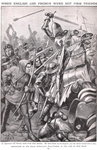 When the French and English Fought at Agincourt, illustration 'Newnes Pictorial Book of Knowledge', c.1920 Fine Art Print by Janet and Anne Johnstone