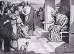 Socrates Addressing the Athenians, illustration from 'Hutchinson's History of the Nations', 1915 Poster Art Print by William Barnes Wollen