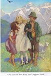 'Put your foot down firmly once,' suggested Heidi, illustration from 'Heidi' Fine Art Print by Peter Jackson