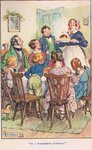'Oh, what a wonderful pudding!', illustration from 'Modern Stories' Fine Art Print by Sir John Everett Millais