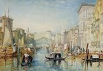 Venice: The Rialto, 1820-21 Fine Art Print by William James