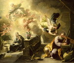 The Dream of St Joseph, c.1692-1702 Fine Art Print by Bartolomeo Passarotti