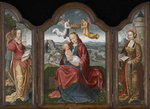 Madonna and Child, St. Barbara and St. Catherine, c.1520 Fine Art Print by Master Francke