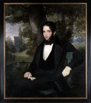 Marriage portrait of Lionel Nathan Rothschild, 1836 Fine Art Print by John Constable