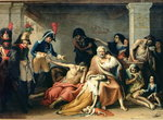The Starving of Madrid, in 1811-12, 1818 Fine Art Print by Jose Casado del Alisal