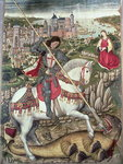 St George and the Dragon Poster Art Print by Anna Teasdale