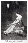 Because she was susceptible, plate 32 of 'Los caprichos', 1799 Poster Art Print by Francisco Jose de Goya y Lucientes
