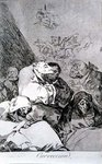 193-0082146 Correction, plate 46 of 'Los caprichos', 1799 Fine Art Print by Francisco Jose de Goya y Lucientes