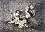 193-0082185 The women give courage, plate 4 of 'The Disasters of War', 1810-14, pub. 1863 Fine Art Print by Francisco Jose de Goya y Lucientes